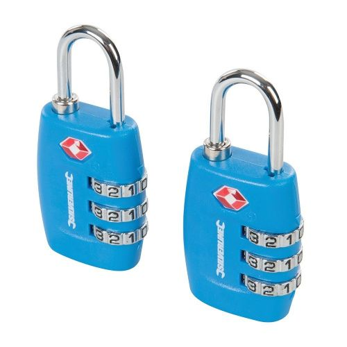2 Pack Silverline 709502 TSA Combination Luggage Padlocks 3 Digit